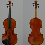 "Violin, labeled Gustav August Ficker,  for William Lewis and Son ""the Sarasate"" model 176  anno 1966"