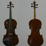 Violin, labeled  Sebastian Kriner 1907
