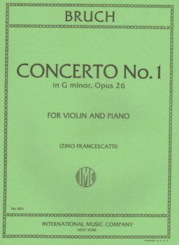 Bruch - Concerto No.1 in G minor, Op 26, for Violin and Piano