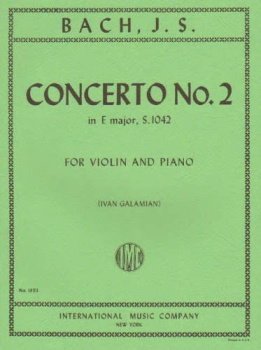 Bach - Concerto No. 2 In E Major, S.1042, for Violin and Piano
