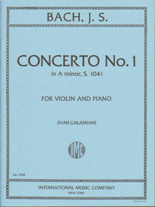 Bach - Concerto No.1 In A minor, S. 1041 for Violin and Piano