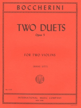 Boccherini - Two Duets, Op 5, for Two Violins
