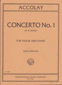 Accolay - Concerto No. 1 in A minor for Violin and Piano