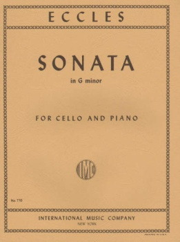 Eccles - Sonata in g minor, for Cello and Piano