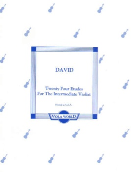 David - Tweny-Four Etudes for the Intermediate  Violist