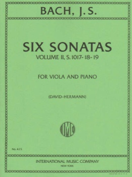 Bach - Six  Sonatas, Volume II, S.1017-18-19, for Viola and Piano