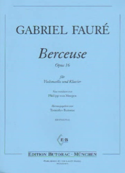 Berceuse, Op 16 for Cello and Piano