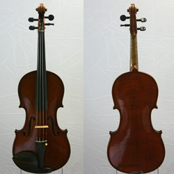 German Violin, labeled Rudolph Wurlitzer Cincinnati